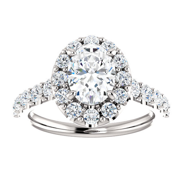 Oval Larger Halo Engagement Ring - Michael E. Minden Diamond Jewelers