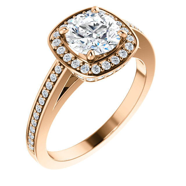 Round Halo-Style Engagement Ring - Michael E. Minden Diamond Jewelers