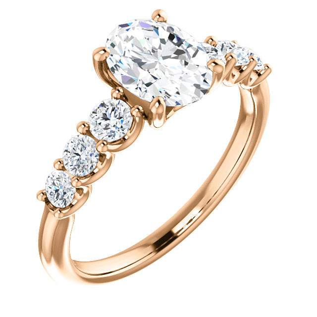 Oval Shape Engagement Ring - Michael E. Minden Diamond Jewelers