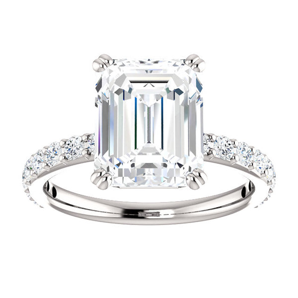Emerald Cut Classic Engagement Ring - Michael E. Minden Diamond Jewelers