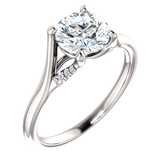 Round Accented Engagement Ring - Michael E. Minden Diamond Jewelers