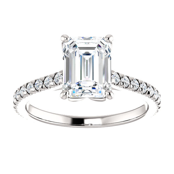 Emerald Eternity Set Engagement Ring - Michael E. Minden Diamond Jewelers