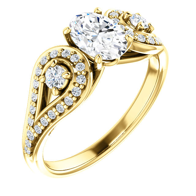 Oval Vintage Inspired Engagement Ring - Michael E. Minden Diamond Jewelers