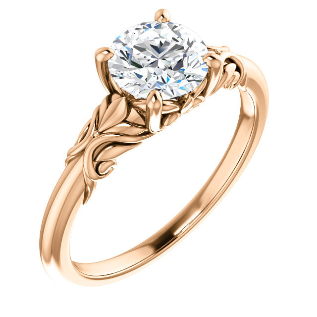 Nature Inspired Solitaire Engagement Ring - Michael E. Minden Diamond Jewelers