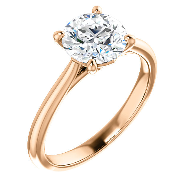 Round Solitaire Engagement Ring - Michael E. Minden Diamond Jewelers