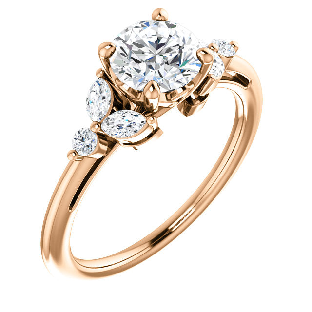 Intricate Side Stone Engagement Ring - Michael E. Minden Diamond Jewelers