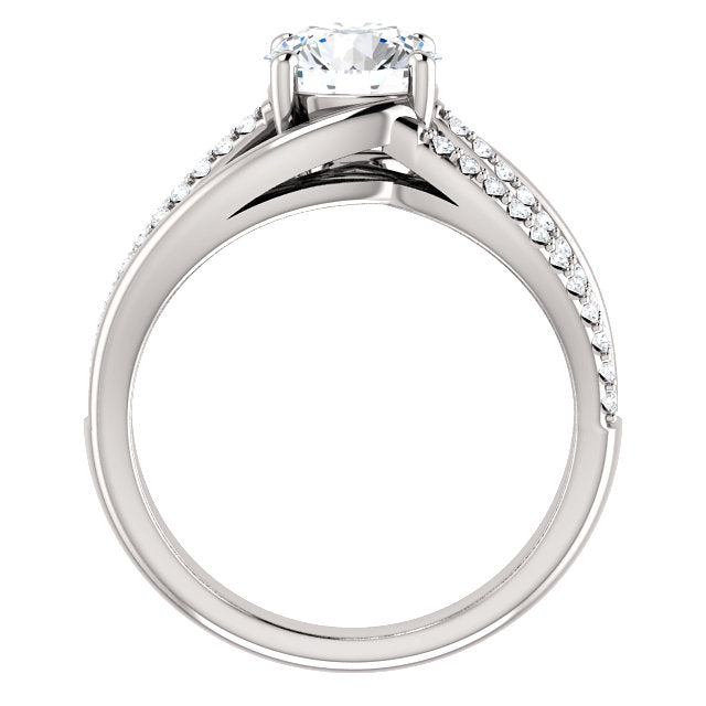 Round Cut Three-Row Engagement Ring - Michael E. Minden Diamond Jewelers