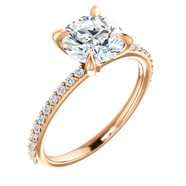 Classic Four-Prong Engagement Ring - Michael E. Minden Diamond Jewelers