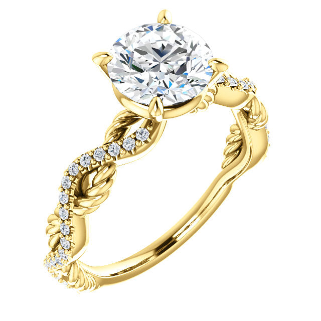Twisted Rope Engagement Ring - Michael E. Minden Diamond Jewelers
