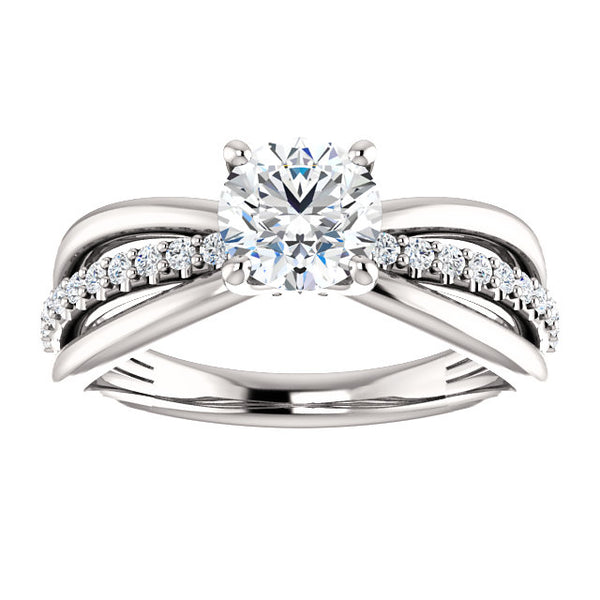 Round Three-Row Diamond Engagement Ring - Michael E. Minden Diamond Jewelers