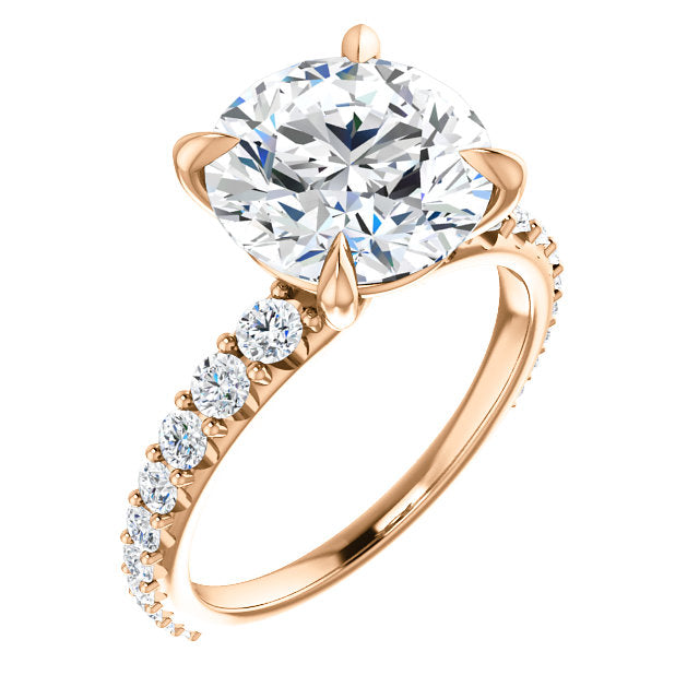 Round Cut Eternity Set Engagement Ring - Michael E. Minden Diamond Jewelers