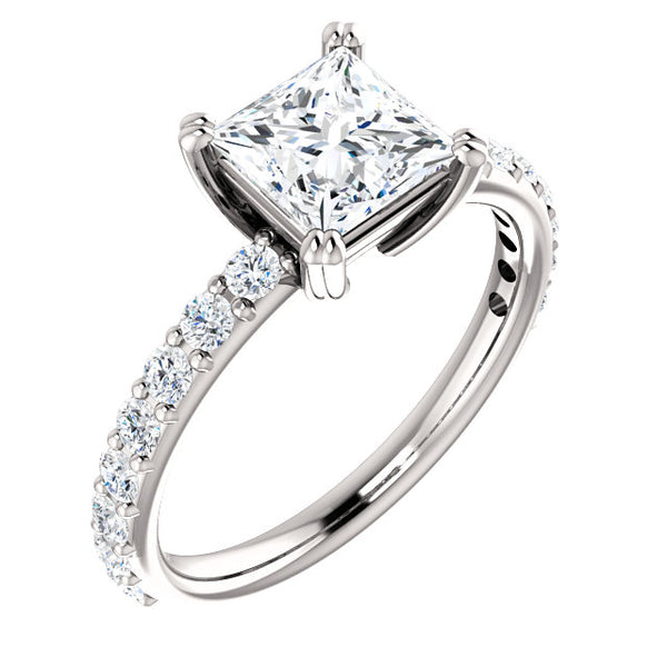 Princess Cut Classic Engagement Ring - Michael E. Minden Diamond Jewelers