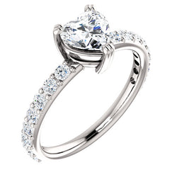 Heart Shape Classic Engagement Ring - Michael E. Minden Diamond Jewelers