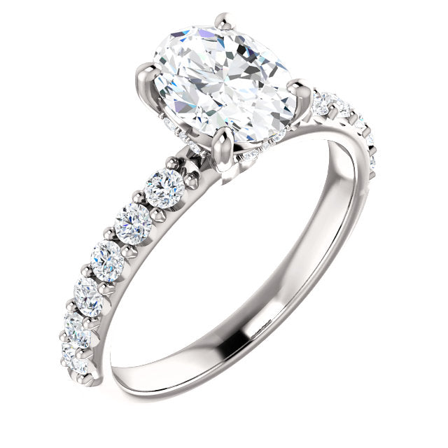 Oval Classic Engagement Ring with Under-Gallery Detail - Michael E. Minden Diamond Jewelers