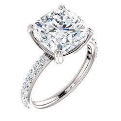 Cushion Cut Classic Engagement Ring - Michael E. Minden Diamond Jewelers