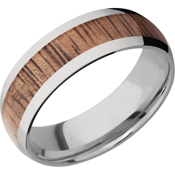 Titanium Men's Wedding Ring with Koa Inlay - Michael E. Minden Diamond Jewelers