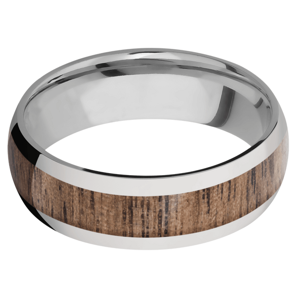Titanium Men's Wedding Ring with Walnut Inlay - Michael E. Minden Diamond Jewelers