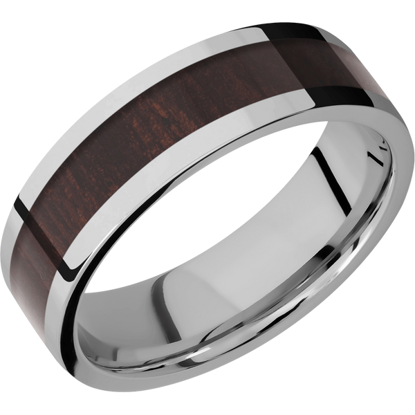 Titanium Men's Wedding Ring with Wenge Inlay - Michael E. Minden Diamond Jewelers