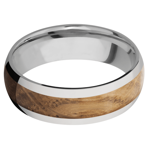 Titanium Men's Wedding Ring with a Whiskey Barrel Inlay - Michael E. Minden Diamond Jewelers