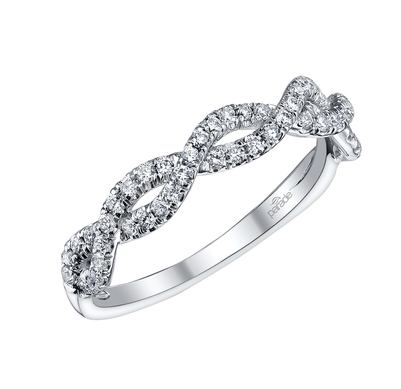 White Gold Diamond Twisted Band - Michael E. Minden Diamond Jewelers