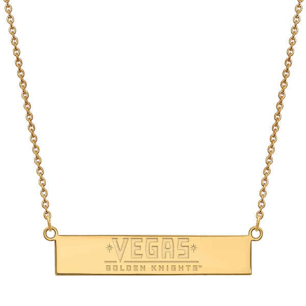 VGK Sterling Silver Bar Necklace - Michael E. Minden Diamond Jewelers