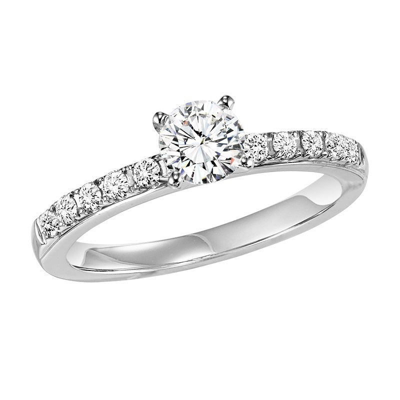 Round Classic Style Semi-Mount Engagement Ring - Michael E. Minden Diamond Jewelers