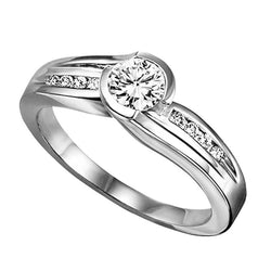 Bezel Set Round Channel Engagement Ring - Michael E. Minden Diamond Jewelers