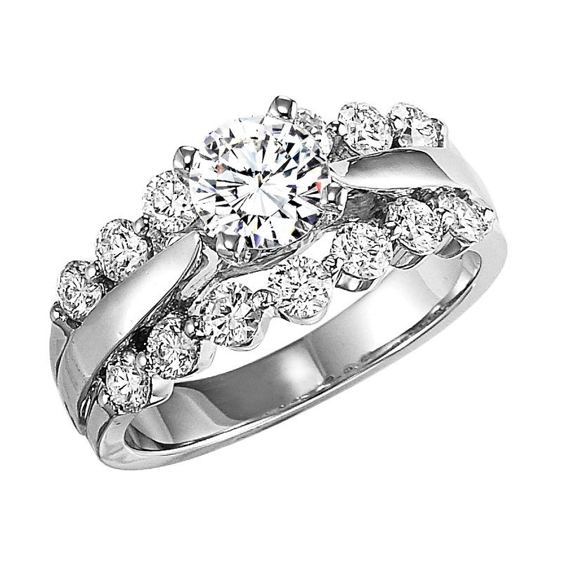 Round Stack Setting Engagement Ring - Michael E. Minden Diamond Jewelers