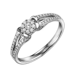 Round Halo Split Shank Engagement Ring - Michael E. Minden Diamond Jewelers