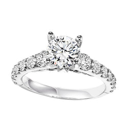 Round Cut Classic Engagement Ring - Michael E. Minden Diamond Jewelers