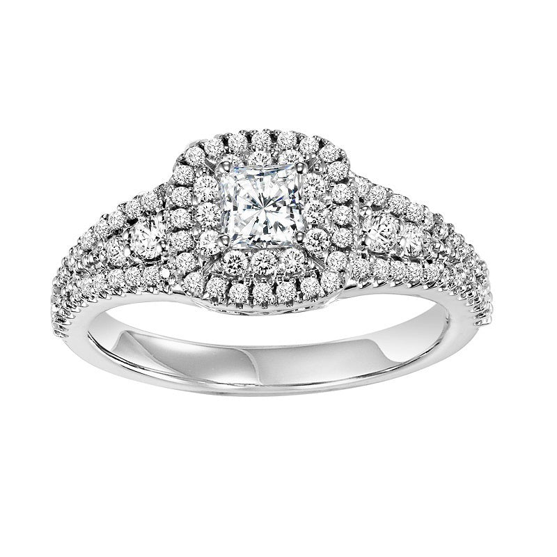 Princess Cut Double Halo Engagement Ring - Michael E. Minden Diamond Jewelers