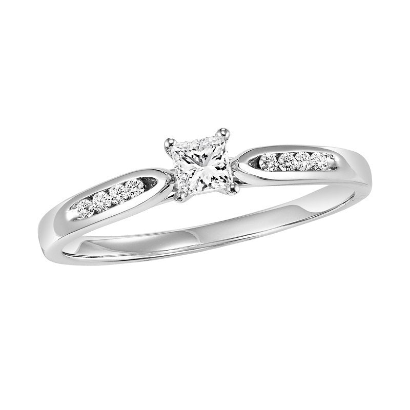 Princess Cut Engagement Ring - Michael E. Minden Diamond Jewelers