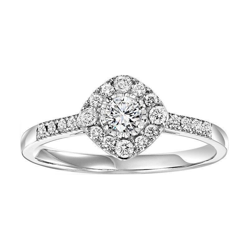 Round Cut Diamond Shape Halo Engagement Ring - Michael E. Minden Diamond Jewelers