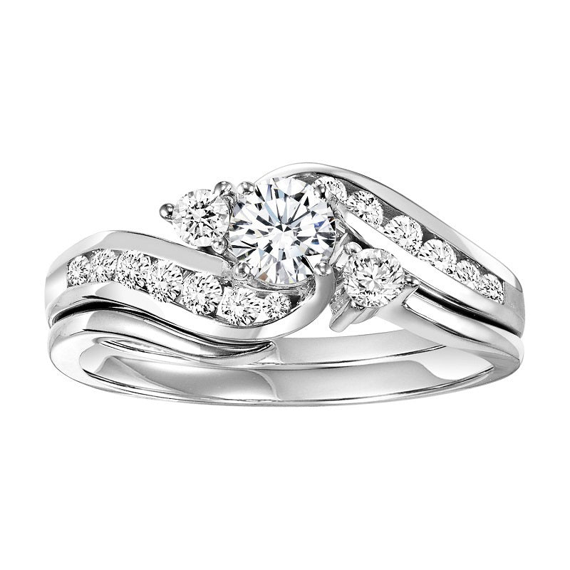Round Unique Wrapped Engagement Ring - Michael E. Minden Diamond Jewelers