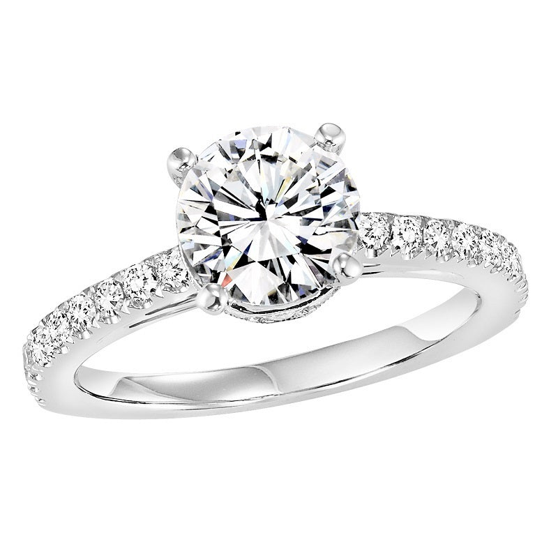 Round Cut Classic Style Engagement Ring - Michael E. Minden Diamond Jewelers