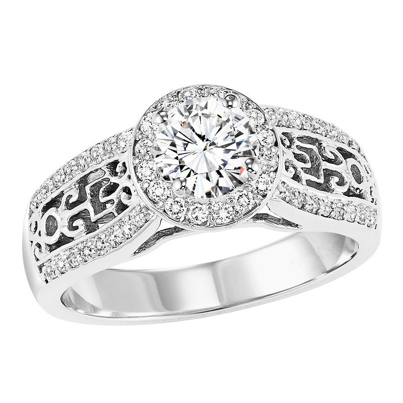 Round Aztec Inspired Engagement Ring - Michael E. Minden Diamond Jewelers