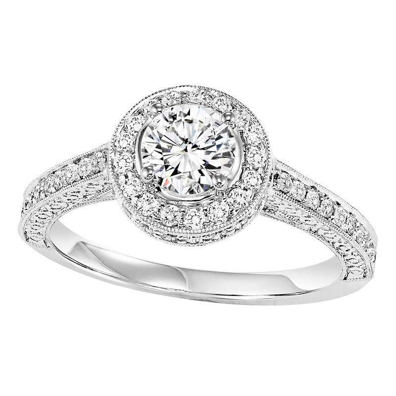 Round Cut Round Halo Engagement Ring - Michael E. Minden Diamond Jewelers