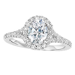 Oval Halo Engagement Ring - Michael E. Minden Diamond Jewelers