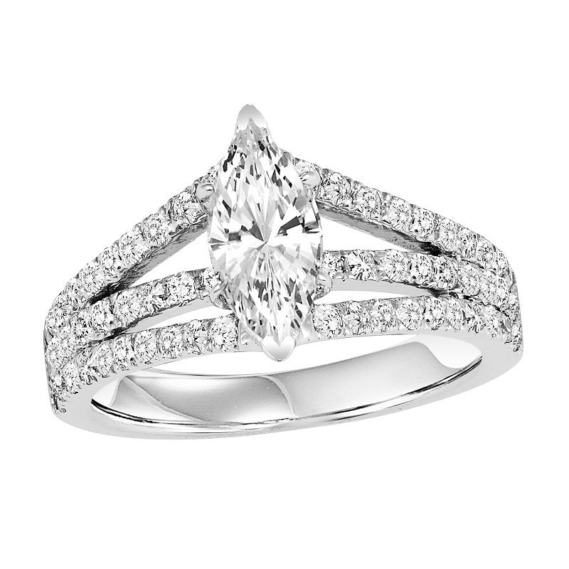 Marquise Three-Row Engagement Ring - Michael E. Minden Diamond Jewelers