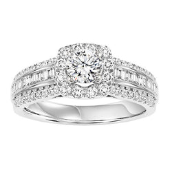Round Halo Intricate Detail Engagement Ring - Michael E. Minden Diamond Jewelers