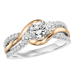 Two-Tone Weaved Engagement Ring - Michael E. Minden Diamond Jewelers