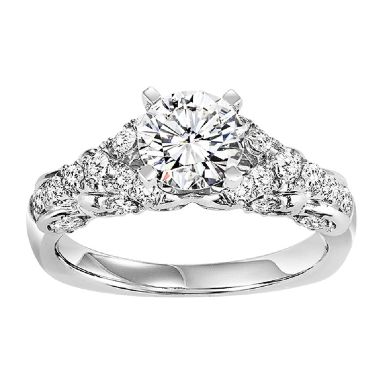 Round Twisted Diamond Engagement Ring - Michael E. Minden Diamond Jewelers