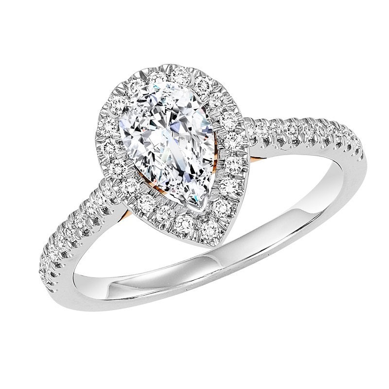 Pear Halo Engagement Ring - Michael E. Minden Diamond Jewelers