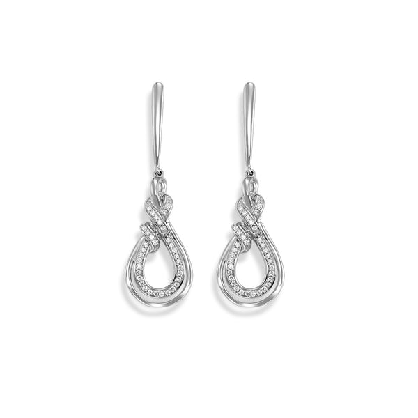 Dangle Twist Diamond Earrings