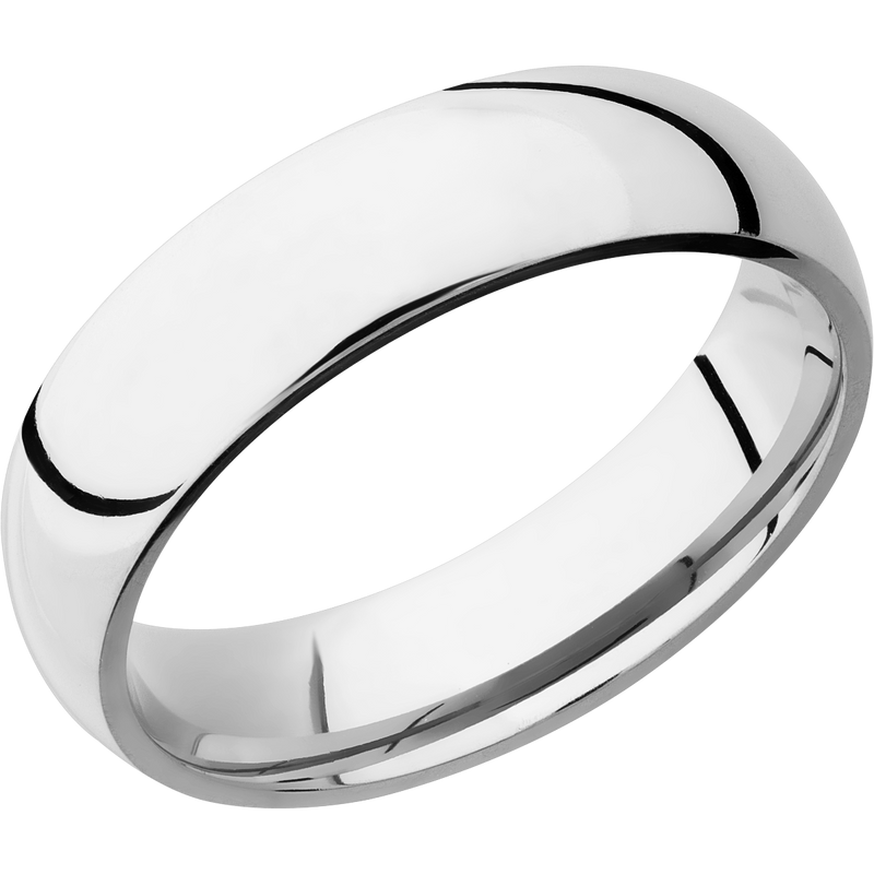 Comfort Fit Men's Wedding Ring with Polished Finish - Michael E. Minden Diamond Jewelers