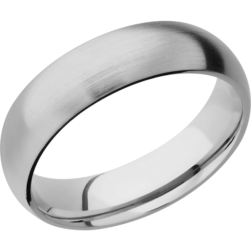 Comfort Fit Round Men's Wedding Ring with a Satin Finish - Michael E. Minden Diamond Jewelers