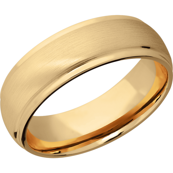 Men's Rounded Wedding Ring with a Satin & Polish Finish - Michael E. Minden Diamond Jewelers