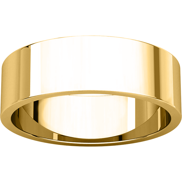 Flat Men's Wedding Ring - Michael E. Minden Diamond Jewelers