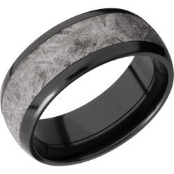 Zirconium with Meteorite Men's Wedding Ring - Michael E. Minden Diamond Jewelers
