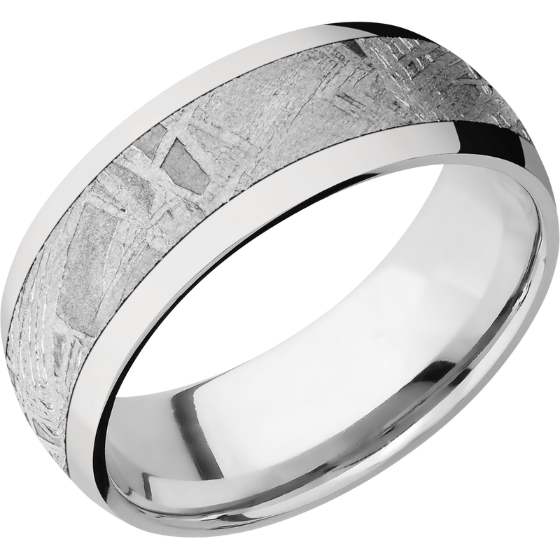 Cobalt Chrome with Meteorite Men's Wedding Ring - Michael E. Minden Diamond Jewelers